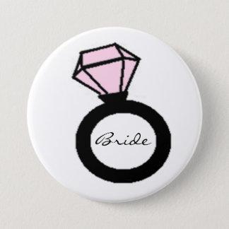 Bride Ring 7.5 Cm Round Badge