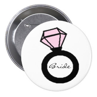 Bride Ring 7.5 Cm Round Badge