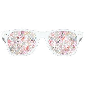 Bride Romantic Pink Watercolor Chic Floral Retro Sunglasses