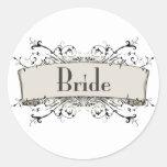 *Bride Round Sticker