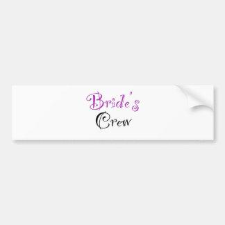 Bride s Crew Bumper Stickers