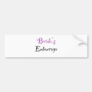 Bride s Entourage Bumper Stickers