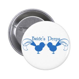 Bride s Peeps Blue Pinback Buttons