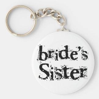 Bride s Sister Black Text Key Chain