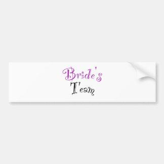 Bride s Team Bumper Stickers