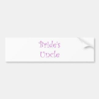 Bride s Uncle Bumper Stickers