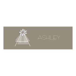 Bride s Veil Daisy Flower Monogram Bridal Gift Tag Business Card