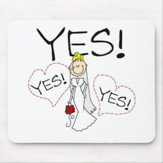 Bride Says Yes Mouse Mat