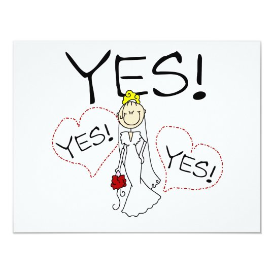 Bride Says Yes Tshirts and Gifts Card