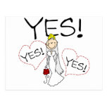 Bride Says Yes Tshirts and Gifts Postcard