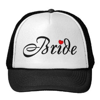 Bride (Script Red Hrt) Cap