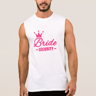 Bride security crown sleeveless shirt