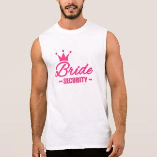 Bride security crown sleeveless shirt