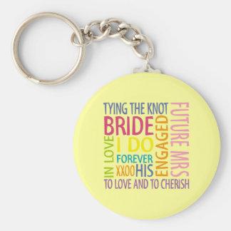 Bride Sentiments Wedding Basic Round Button Key Ring