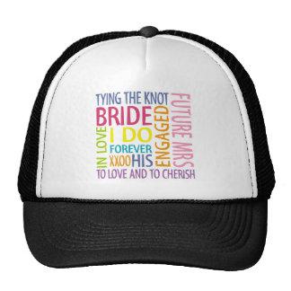 Bride Sentiments Wedding Cap