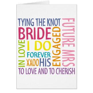 Bride Sentiments Wedding Greeting Card