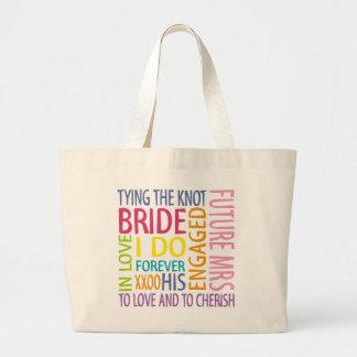 Bride Sentiments Wedding Jumbo Tote Bag