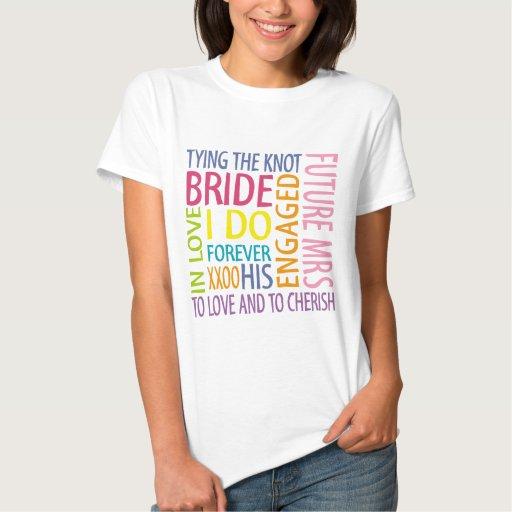 Bride Sentiments Wedding T-shirt