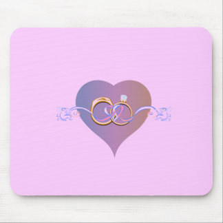 BRIDE SHOWER WEDDING RINGS BAND PARTY MOUSE PAD