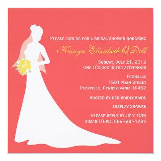 Bride Silhouette Bridal Shower Invitations