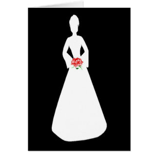 Bride Silhouette I Greeting Card