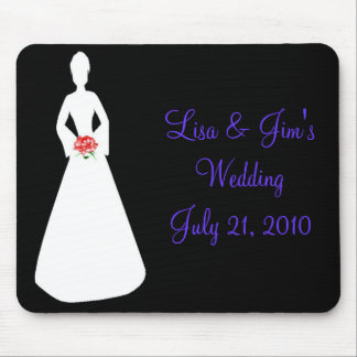 Bride Silhouette I Mouse Pads