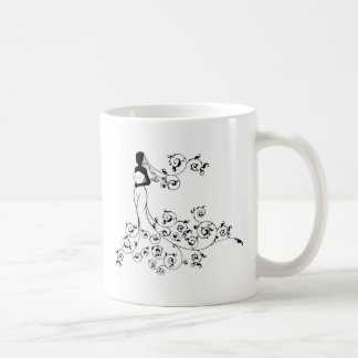 Bride Silhouette Wedding Concept Coffee Mug