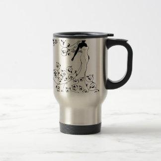 Bride Silhouette Wedding Concept Travel Mug