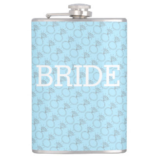 "Bride ""Something Blue"" Flask"