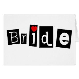 Bride (Sq) Greeting Card