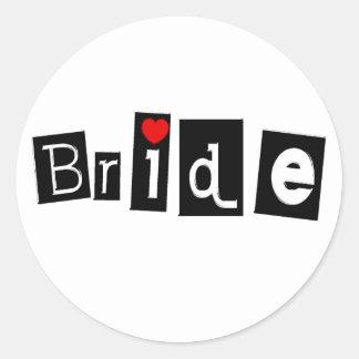 Bride (Sq) Round Sticker