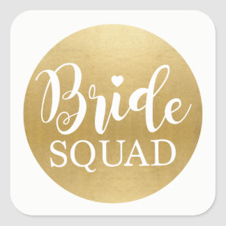 Bride Squad Bridal Shower Stickers Gold Bridal