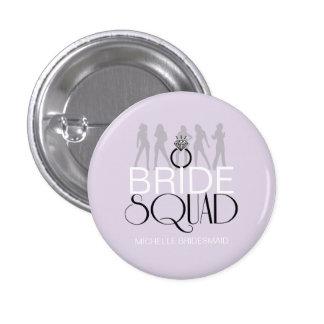 Bride Squad Silhouettes Black on Lites ID252 3 Cm Round Badge