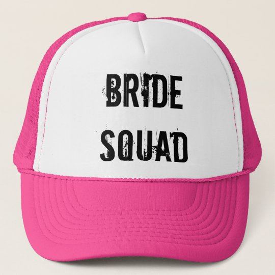BRIDE SQUAD TRUCKER HAT PINK