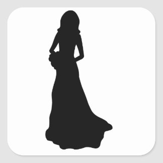 Bride. Square Sticker
