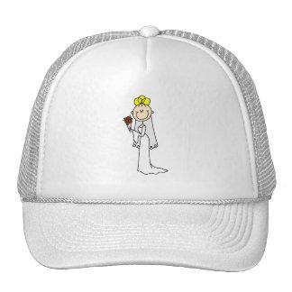 Bride Stick Figure Blond Hat