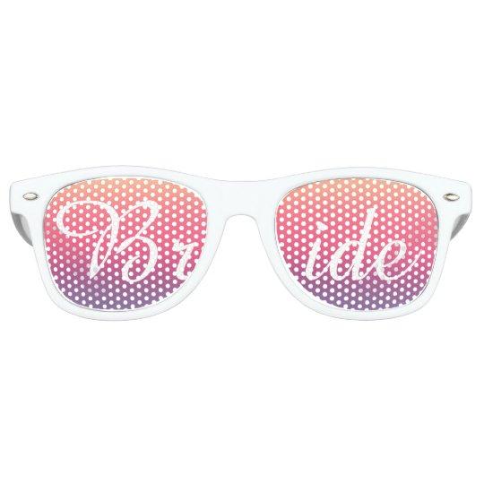 Bride Sunset Watercolor Ombre Purple Beach Retro Sunglasses