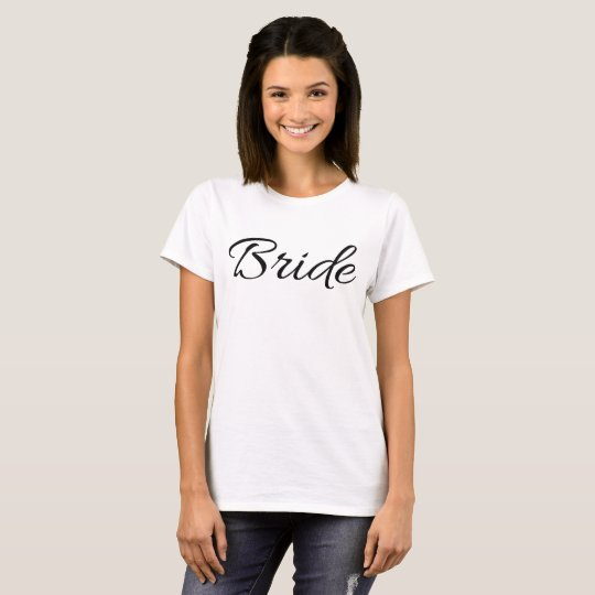 'Bride' T-shirt from Bridal Party Collection