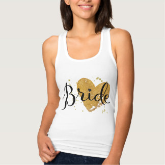 Bride T Shirt with Gold Heart