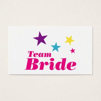 Bride team business card