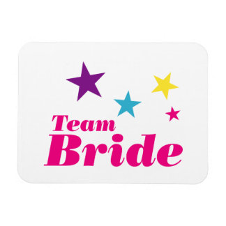 Bride team rectangular photo magnet
