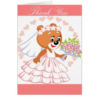 Bride teddy bear greeting card
