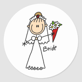 Bride Throwing The Bouquet Sticker