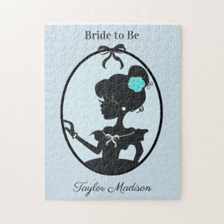 Bride to be Beautiful blue Jigsaw Puzzle