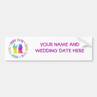 """"""" Bride to be """" Bumper Sticker"""