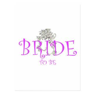 bride to be flwr postcard