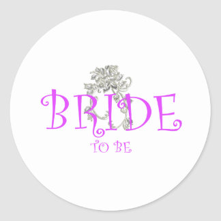 bride to be flwr stickers
