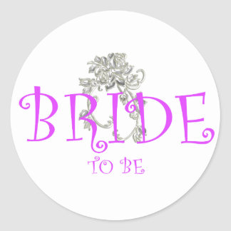 bride to be flwr round stickers