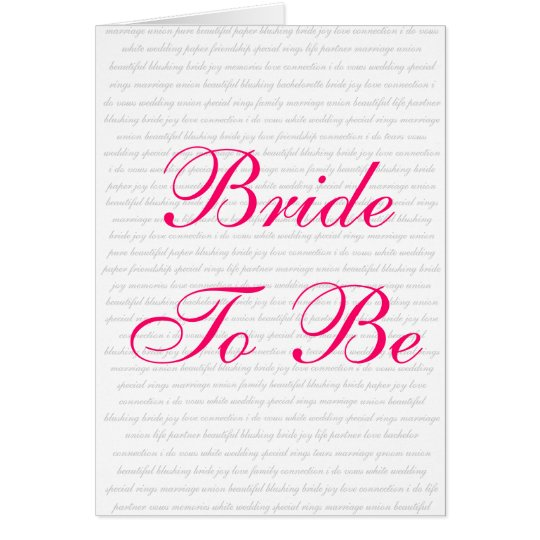 Bride To Be - Gift Card