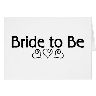 Bride To Be (Hearts) Greeting Card